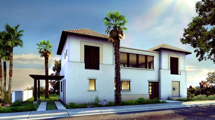 Casa Yucatan Country Club- Boué Arquitectos : Casas de estilo  por Boué Arquitectos