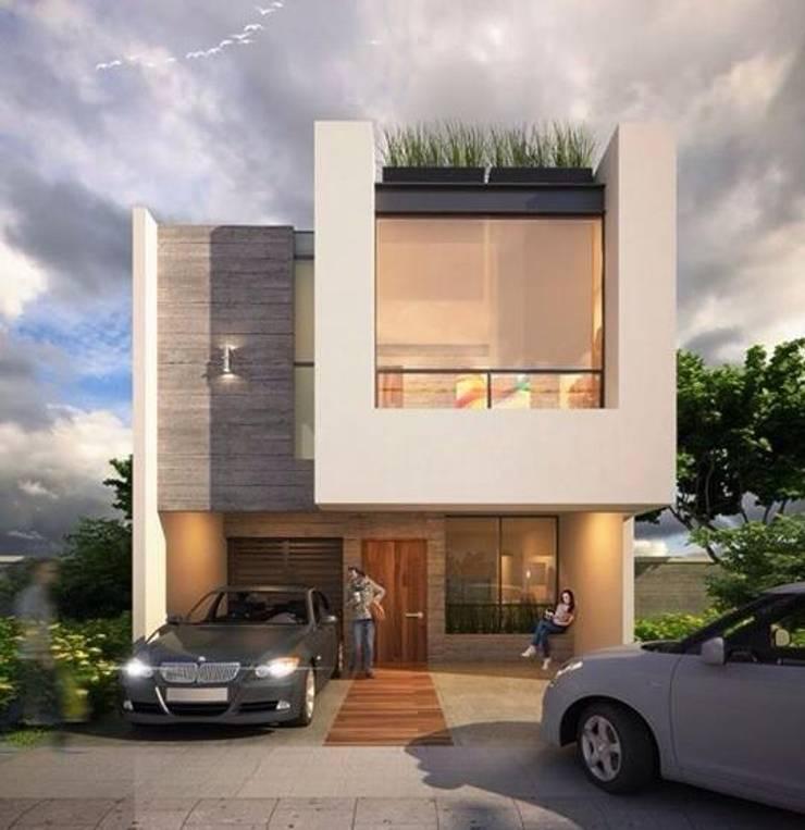 Espacea: Casas de estilo  por ESPACEA