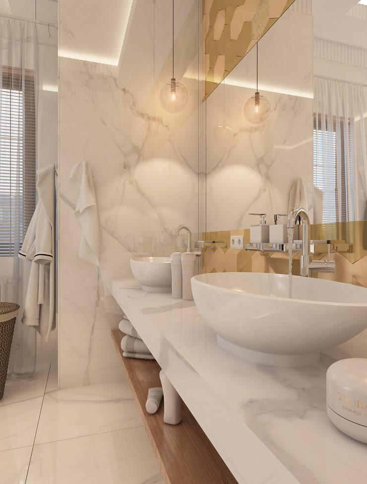 Дизайн-проект коттеджа: Ванные комнаты в . Автор – MONTE FEE INTERIOR DESIGN STUDIO