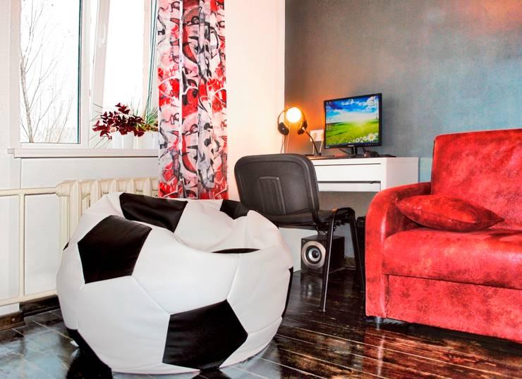 Спальня футбольного болельщика: Детские комнаты в . Автор – ИП  Матехина Марина Андреевна