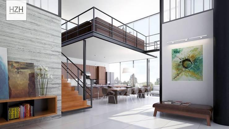 HZH Arquitectura: Salas de estilo  por HZH Arquitectura & Diseño