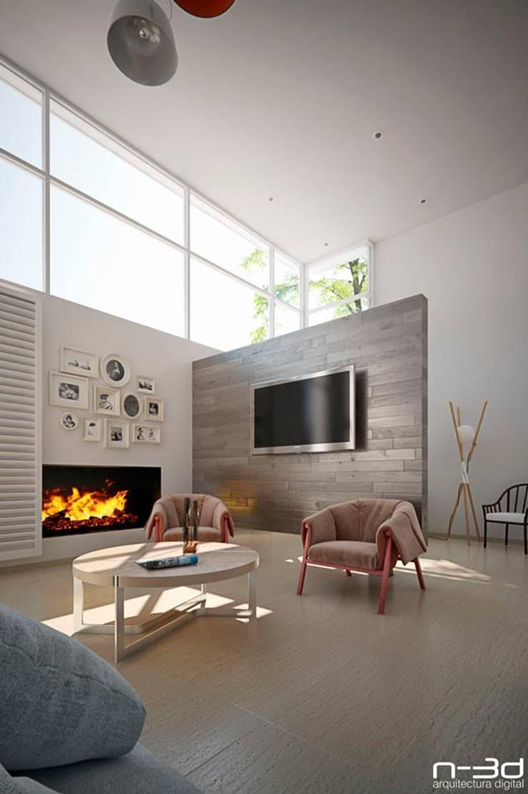 Salon de style  par N-3D / ARQUITECTURA DIGITAL,