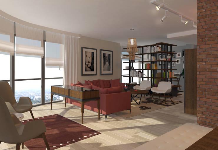 Abb Design Studio – Mesa Koza 66 - Örnek Daire:  tarz İç Dekorasyon
