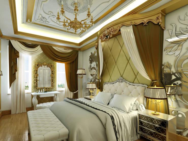 Abb Design Studio – C&N Ailesi - Yatak Odası (Rusya):  tarz Yatak Odası