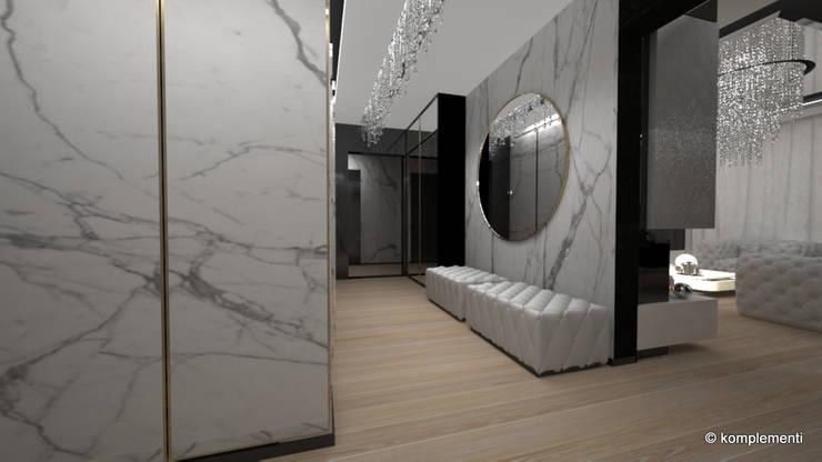 penthouse glamour: styl , w kategorii Korytarz, przedpokój zaprojektowany przez Komplementi,Nowoczesny