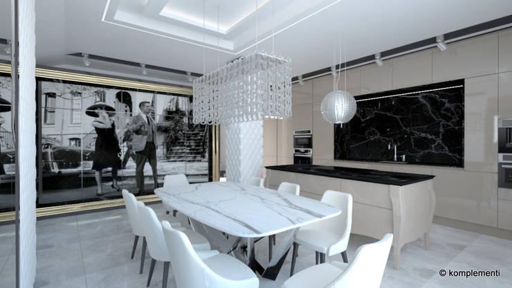 penthouse glamour: styl , w kategorii Kuchnia zaprojektowany przez Komplementi,Nowoczesny