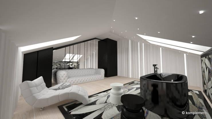 pokój goscinny: styl , w kategorii Spa zaprojektowany przez Komplementi,Nowoczesny