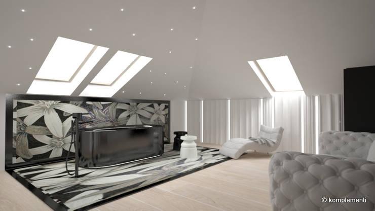 pokój gościnny z funkcją SPA: styl , w kategorii Spa zaprojektowany przez Komplementi,Nowoczesny