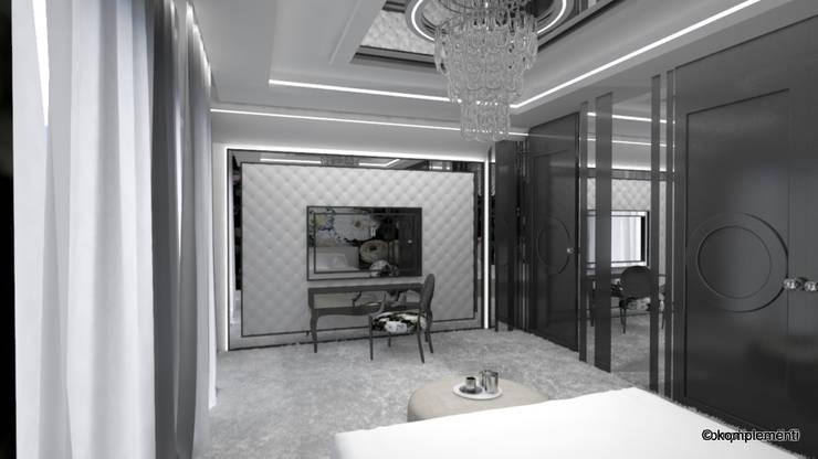SYPIALNIA GLAMOUR: styl , w kategorii Sypialnia zaprojektowany przez Komplementi,Nowoczesny