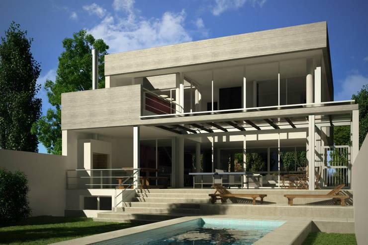 Casa Santamarina: Jardines de estilo  por betta arquitectos