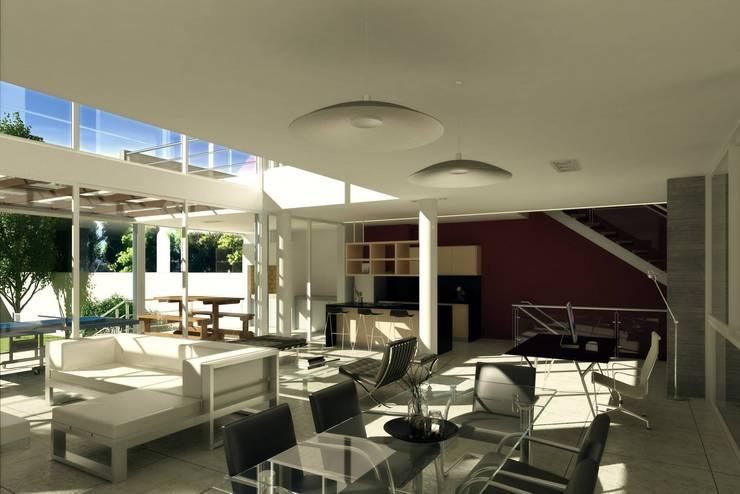 Casa Santamarina: Livings de estilo  por betta arquitectos