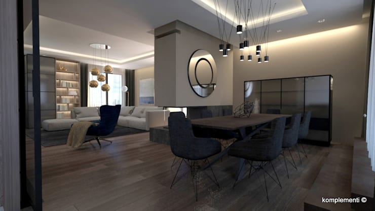 Dining room by Komplementi, Modern