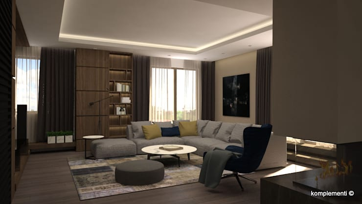 Living room by Komplementi, Modern