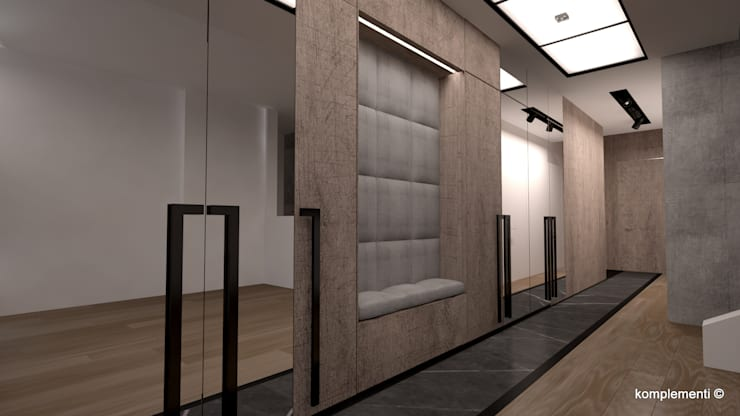 Corridor and hallway by Komplementi, Modern