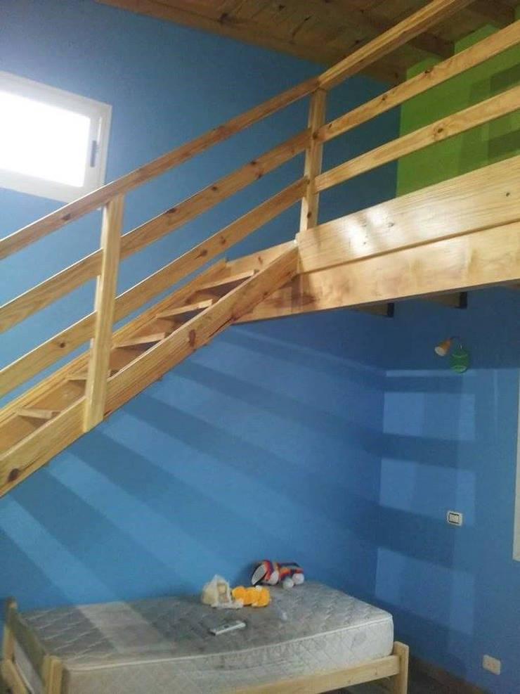 Obra Gomez Pasillos, vestíbulos y escaleras modernos de RG construcción + diseño Moderno