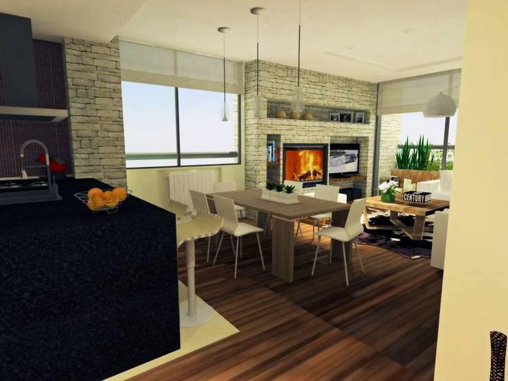 DISEÑOS interiores:  de estilo  por Grupo Partener
