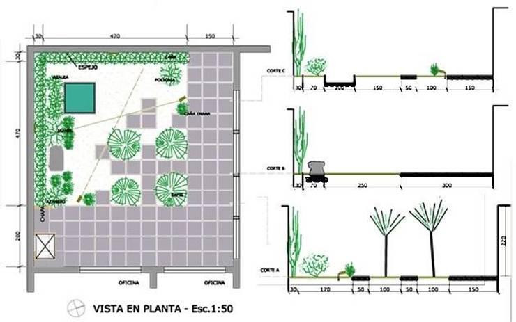 Jardin Welker:  de estilo  por Dhena CONSTRUCCION DE JARDINES