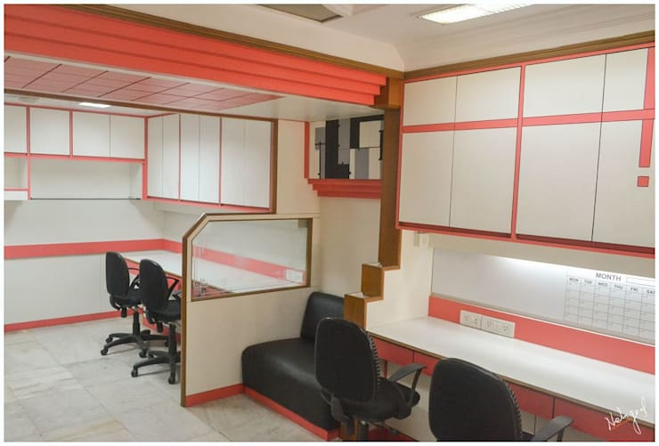 The Compact Office:  Offices & stores by Neha Goel Architects