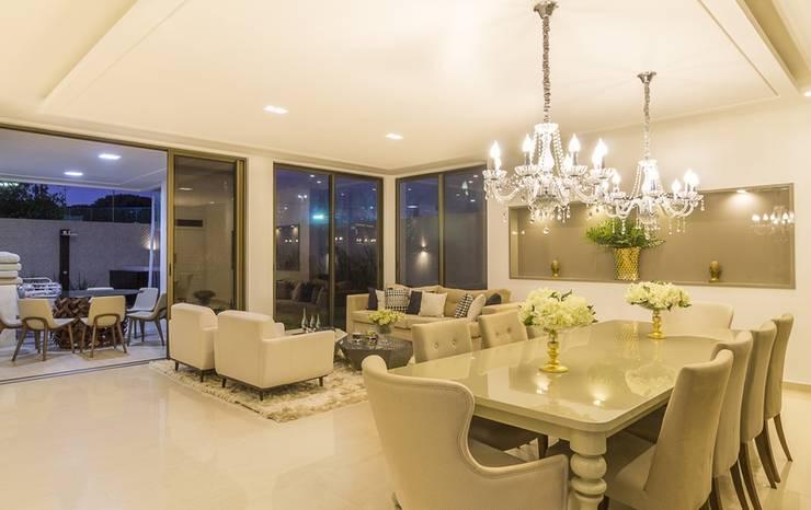 Living Dinner Salas de jantar modernas por Marina Brasil Arquitetura Moderno