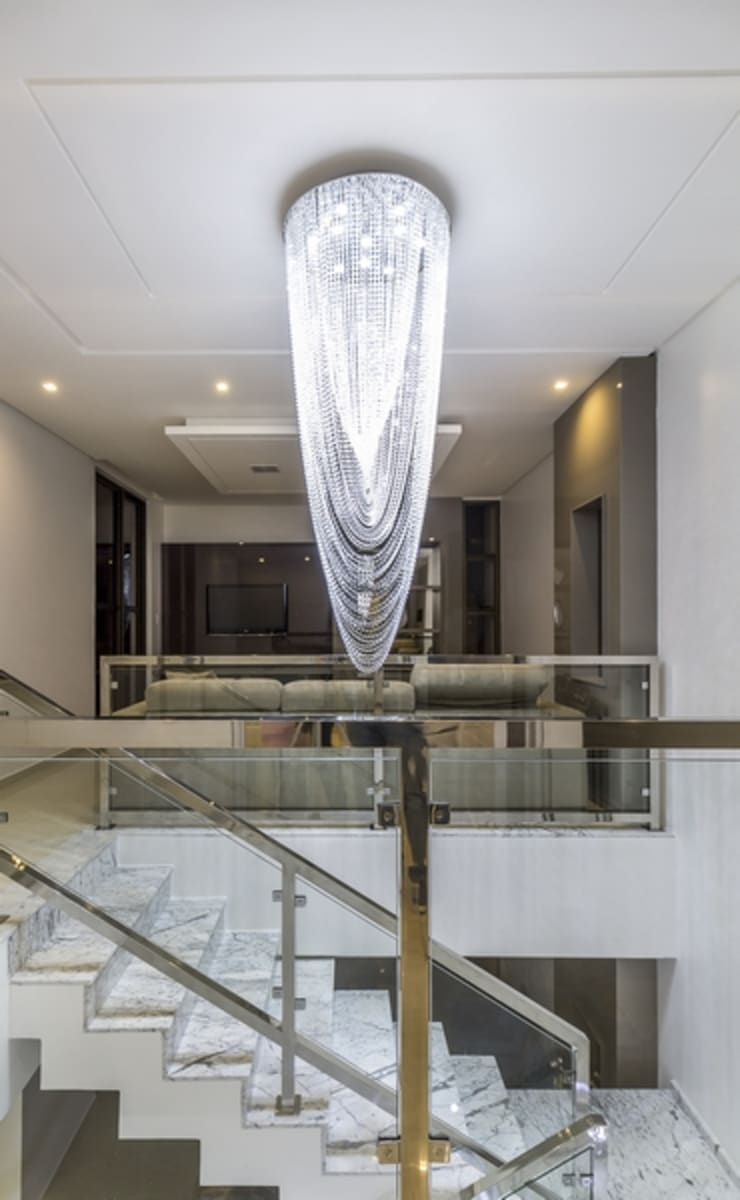Luminária Corredores, halls e escadas modernos por Marina Brasil Arquitetura Moderno