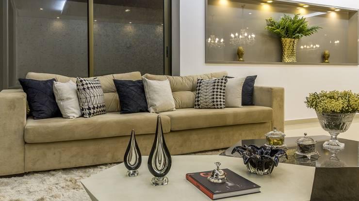Detalhes Living Salas de estar modernas por Marina Brasil Arquitetura Moderno