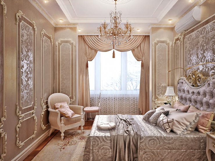 Bedroom by Студия дизайна Interior Design IDEAS
