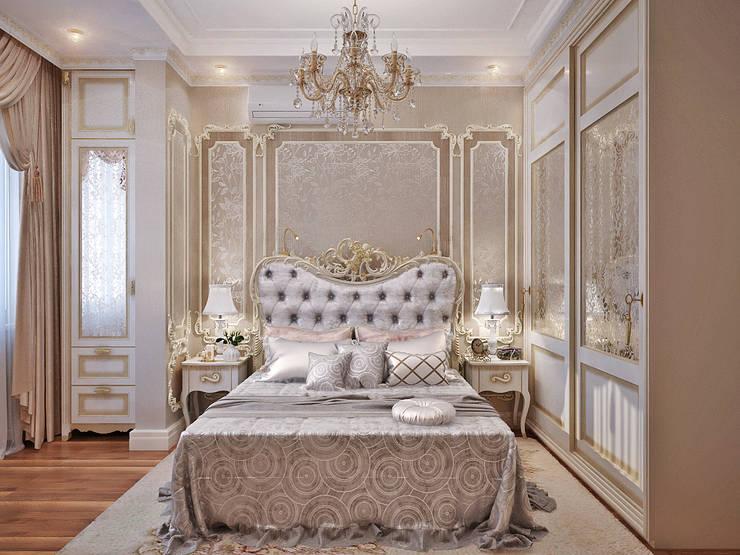 Богатство нейтральных полутонов - элегантный интерьер для спальни: Спальни в . Автор – Студия дизайна Interior Design IDEAS
