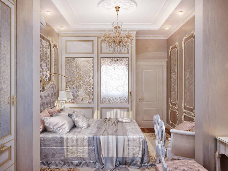 Богатство нейтральных полутонов – элегантный интерьер для спальни: Спальни в . Автор – Студия дизайна Interior Design IDEAS