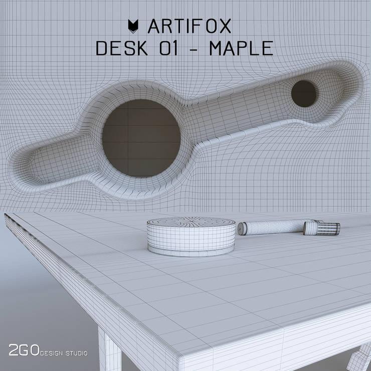 Artifox Desk 01: Рабочий кабинет  в . Автор – 2GO Design Studio,