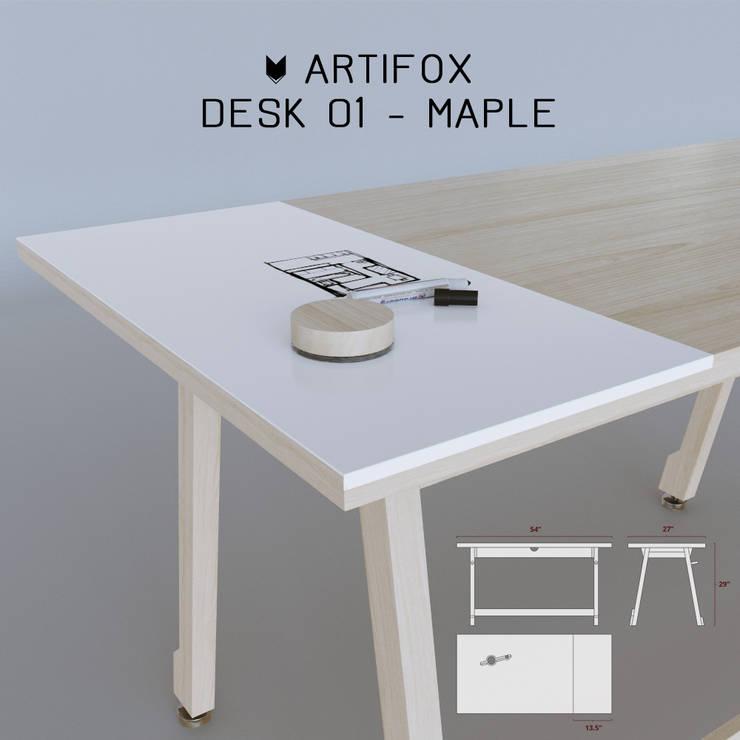 Artifox Desk 01: Рабочий кабинет  в . Автор – 2GO Design Studio