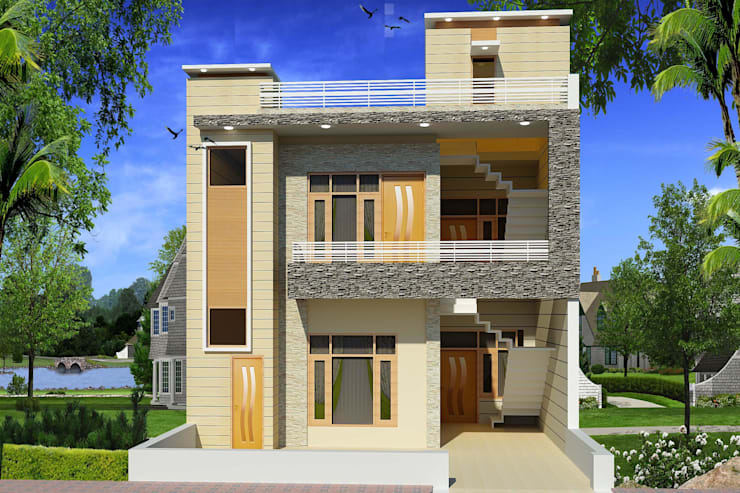 Construction / Civil Work: asian Houses by S.R. Buildtech – The Gharexperts