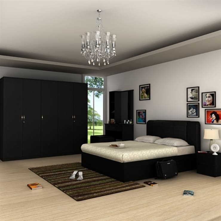 Interiors: asian Bedroom by S.R. Buildtech – The Gharexperts