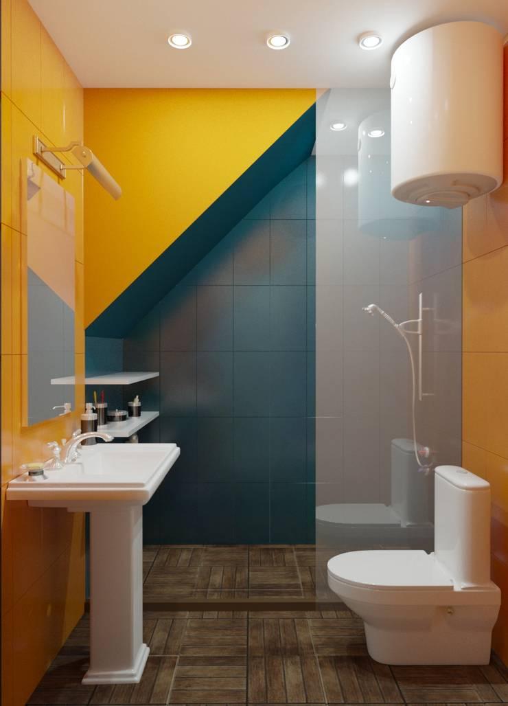 Современная классика с нотками прованса: Ванные комнаты в . Автор – MEL design