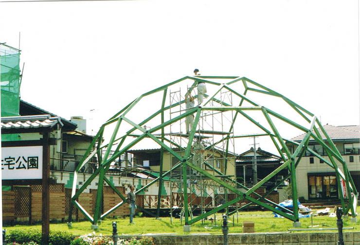 木のジオデシックドーム 蛇の目ドーム: 木造トラス研究所・株式会社 合掌が手掛けた家です。