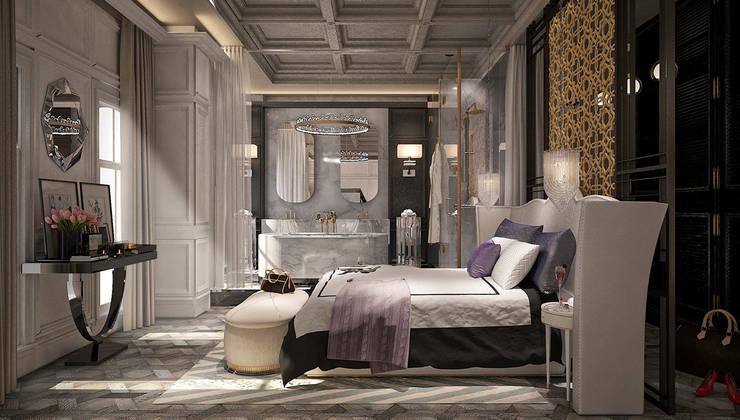 Mert Duyal - NuN Design – Private villa design:  tarz Yatak Odası