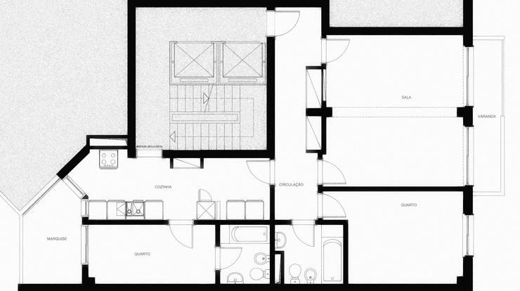 Planta da situação antes da obra:   por UMA Collective - Architecture