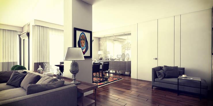Living room by De I Studio - 3D Mimari Görselleştirme ve Animasyon Hizmetleri