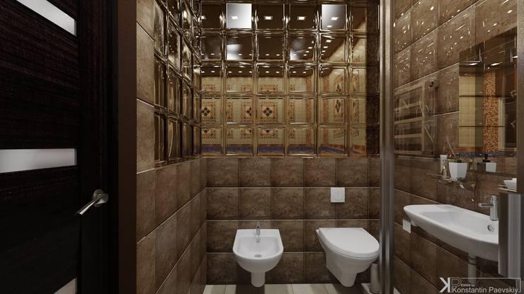 Интерьер коттеджа, загородного дома: Ванные комнаты в . Автор – Константин Паевский-PAEVSKIYDESIGN