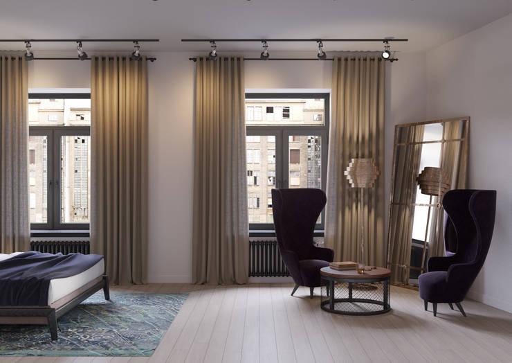 Loft Depre: Спальни в . Автор – Anna Clark Interiors,
