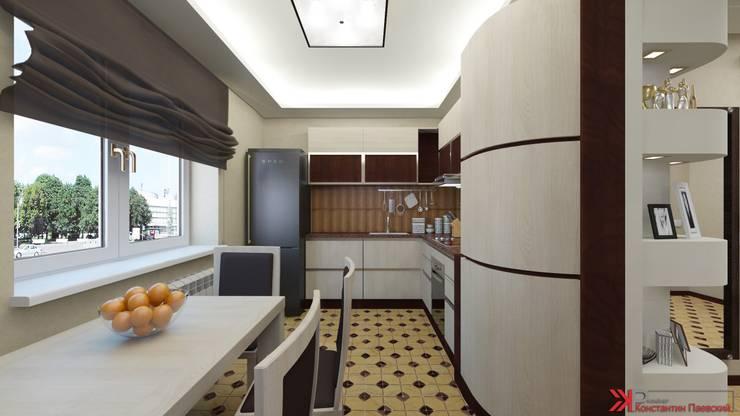 Интерьер 2-х комнатной квартиры: Кухни в . Автор – Константин Паевский-PAEVSKIYDESIGN,