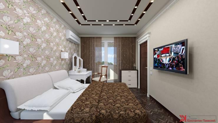 Интерьер 2-х комнатной квартиры: Спальни в . Автор – Константин Паевский-PAEVSKIYDESIGN,