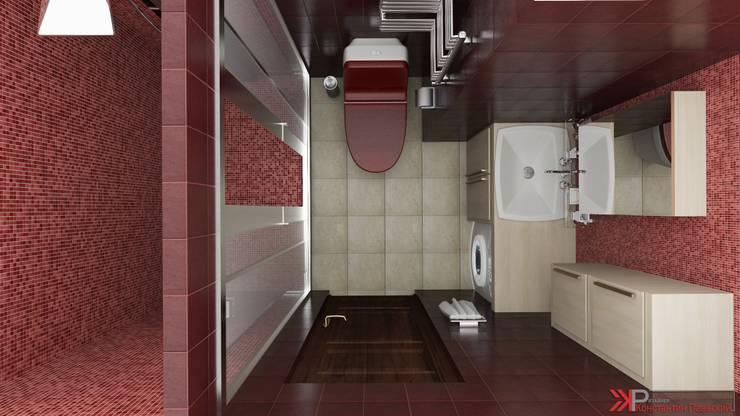 Интерьер 2-х комнатной квартиры: Ванные комнаты в . Автор – Константин Паевский-PAEVSKIYDESIGN,
