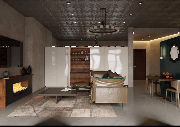 Loft Depre: Гостиная в . Автор – Anna Clark Interiors,