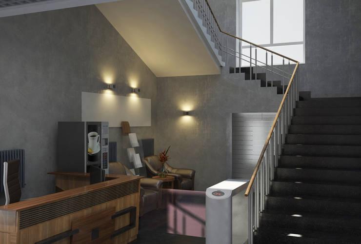 Холл в заводском комплексе: Коммерческие помещения в . Автор – MEL design