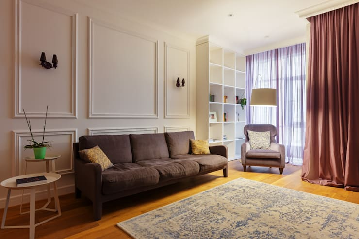 Salas / recibidores de estilo minimalista por U-Style design studio