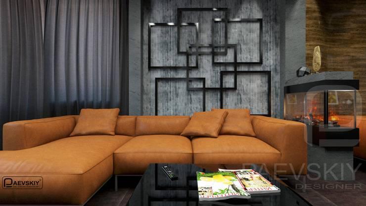Квартира в современном стиле: Гостиная в . Автор – Константин Паевский-PAEVSKIYDESIGN