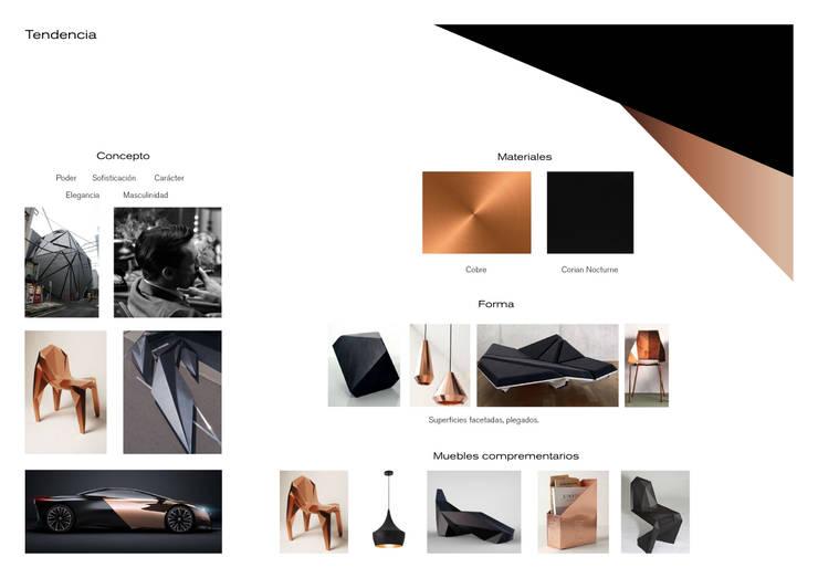 Moodboard: Oficinas y tiendas de estilo  de Ana G. Carpallo