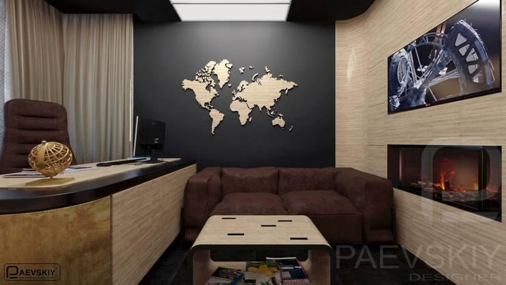 Квартира в современном стиле: Рабочие кабинеты в . Автор – Константин Паевский-PAEVSKIYDESIGN