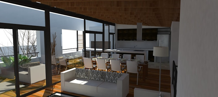 Salon social: Comedores de estilo  por UFV 72 Arquitectura Integral,