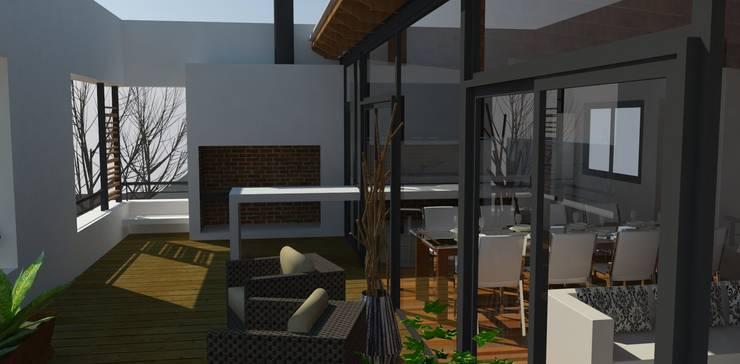Terraza: Jardines de estilo  por UFV 72 Arquitectura Integral